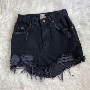 Vintage Furst of a kind lee black distress skirt 6